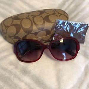 Burgundy Coach Sunglasses NWOT